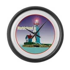 Unique Marblehead lighthouse Large Wall Clock