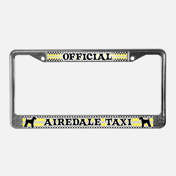Official Airedale Taxi License Plate Frame