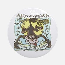 Grampy's Spunky Monkey Ornament (Round)