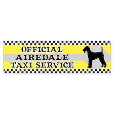 Official Airedale Taxi Bumper Bumper Sticker