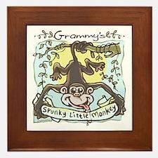 Grammy's Spunky Monkey Framed Tile