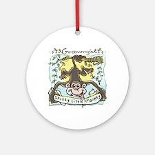 Grammy's Spunky Monkey Ornament (Round)
