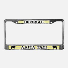 Official Akita Taxi License Plate Frame