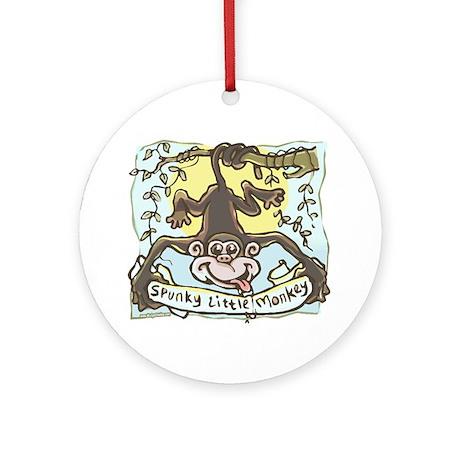 Spunky Little Monkey Ornament (Round)