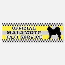 Official Malamute Taxi Bumper Bumper Bumper Sticker