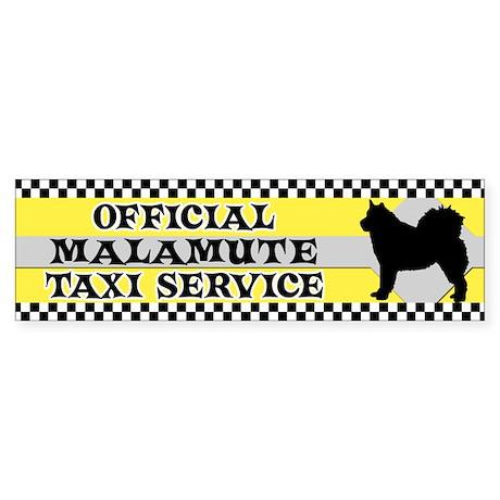 Official Malamute Taxi Bumper Sticker