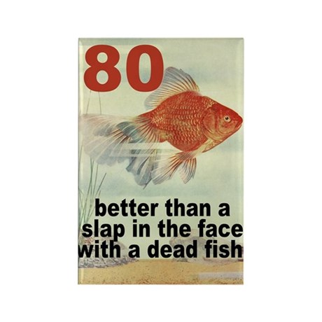 80th Birthday Rectangle Magnet (100 pack)