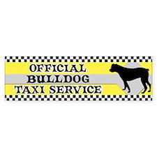 Official Bulldog Taxi Bumper Sticker (American)
