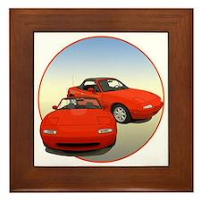 Funny Mazda miata Framed Tile