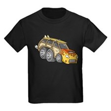 Yellow Woodie with Surfboards T