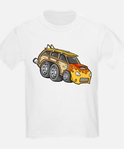 Yellow Woodie with Surfboards T-Shirt