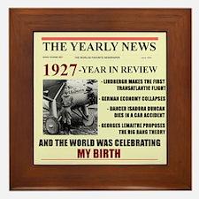 born in 1927 birthday gift Framed Tile