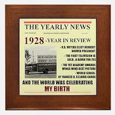 born in 1928 birthday gift Framed Tile
