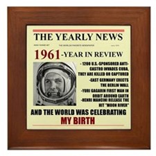 born in 1961 birthday gift Framed Tile