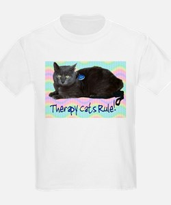 """""""Therapy Cats Rule!"""" Kids T-Shirt"""