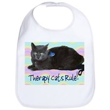 """Therapy Cats Rule!"" Bib"