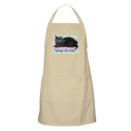 """""""Therapy Cats Rule!"""" BBQ Apron"""