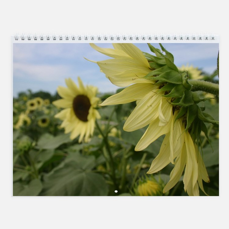 Cute Flowers art Wall Calendar