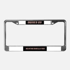Heather Hellfire Official License Plate Frame