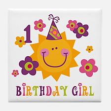 Sun 1st Birthday Tile Coaster
