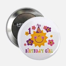 "Sun 1st Birthday 2.25"" Button"