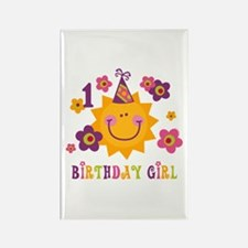 Sun 1st Birthday Rectangle Magnet