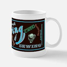 Sewing Aqua Mug