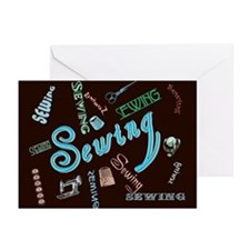 Sewing Aqua Greeting Cards (Pk of 10)