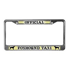 Official FoxhoundTaxi License Plate Frame