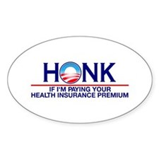 Honk Health Insurance Oval Decal