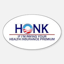 Honk Health Insurance Oval Sticker (10 pk)