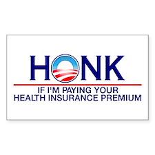 Honk Health Insurance Rectangle Sticker 10 pk)