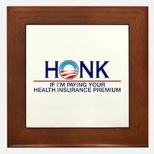 Honk Health Insurance Framed Tile