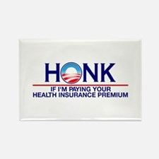Honk Health Insurance Rectangle Magnet