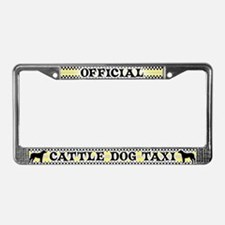 Official Cattle Dog Taxi License Plate Frame