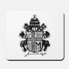 Pope John Paul II Coat of Arms Mousepad