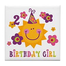 Sun 2nd Birthday Tile Coaster