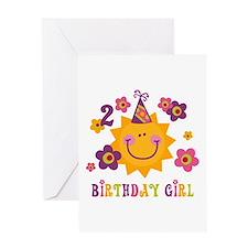 Sun 2nd Birthday Greeting Card