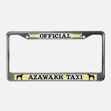 Official Azawakh Taxi License Plate Frame