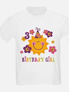 Sun 3rd Birthday T-Shirt