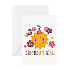 Sun 3rd Birthday Greeting Card
