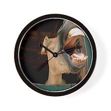 Humorous Equine Wall Clock