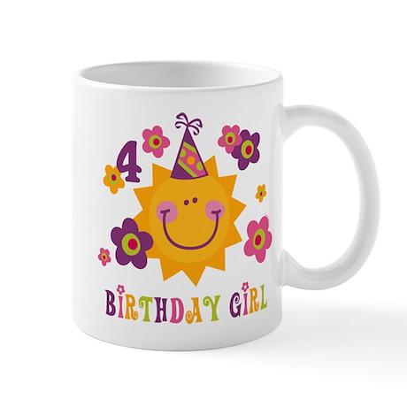 Sun 4th Birthday Mug