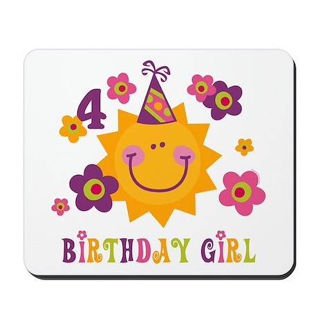 Sun 4th Birthday Mousepad