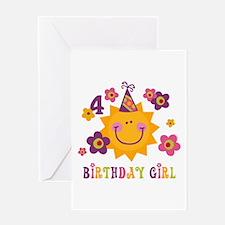 Sun 4th Birthday Greeting Card