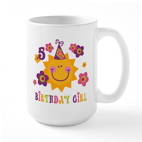 Sun 5th Birthday Large Mug
