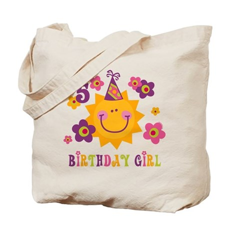 Sun 5th Birthday Tote Bag