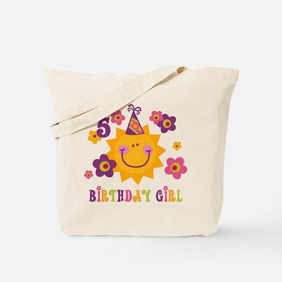Sun 5th Birthday Tote Bag