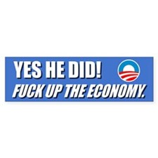 Funny Anti Obama Bumper Bumper Sticker