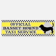 Official Basset Hound Taxi Bumper Bumper Bumper Sticker